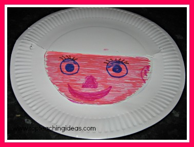 Space activities for kids - paper plate astronauts